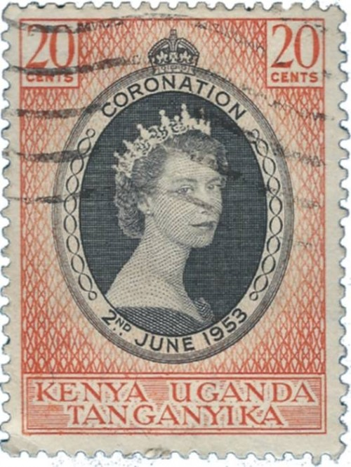 Part of the Coronation Series when Queen Elizabeth II ascended to the throne of England in 1953. This one is from Kenya Uganda and Tanganyika.