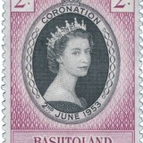 Queen-Elizabeth-Basutoland-1953-Coronation-Issue