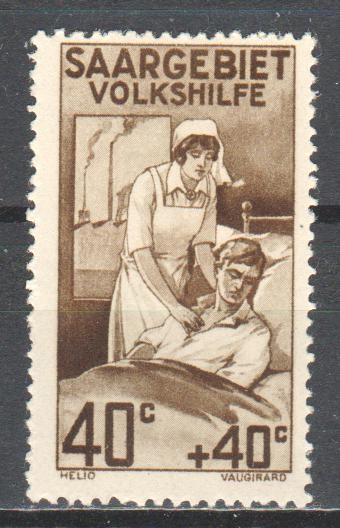 Saar 1926 charity stamp