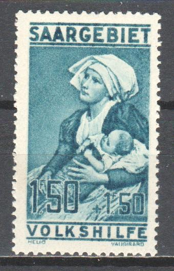 Saar 1926 charity stamp - maternity nurse