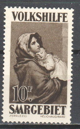 Saar 1929 charity stamp