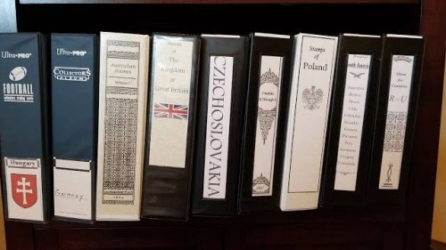 Just a pic of some of my custom Stamp Albums on my book shelf.