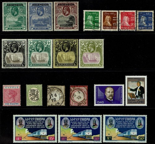 A variety of worldwide stamps.