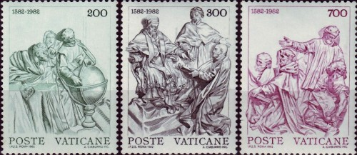 Vatican, Scott Nr 715 717 (1982) Oct 4, 1582: The Gregorian calendar is introduced, and, by papal decree, the next 10 days never happened.