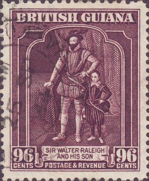 British Guiana, Scott Nr 96c (1944) Oct 29, 1618: Sir Walter Raleigh is executed, after his enemies spread rumors of his opposition to the accession of King James.