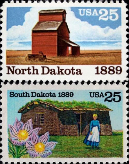 USA, Scott Nr 2403 (1988), 2416 (1989)