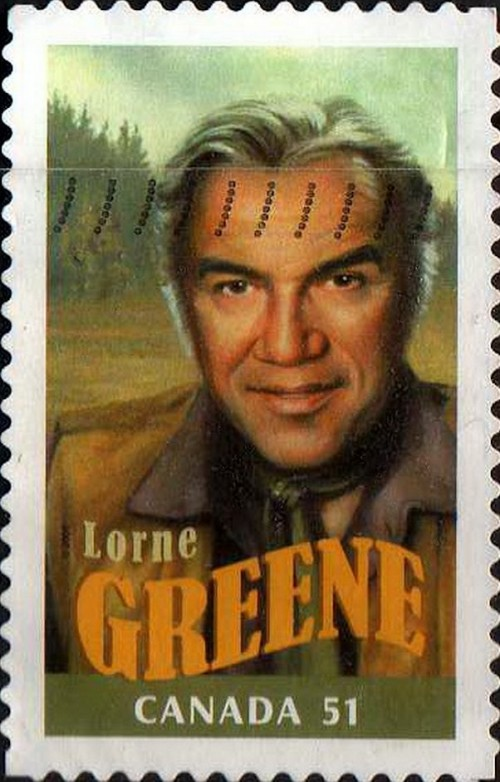 "Canada, Scott Nr 2154d (2006) Nov 8, 1964: TV star Lorne Greene crashes the rock n roll party, sitting at #10 on the Billboard charts with the western-themed ""Ringo."""