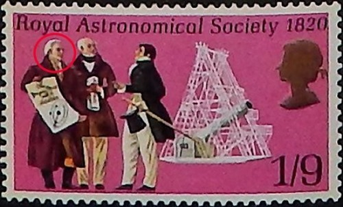 Great Britain, Scott Nr 616 (1970) Nov 15, 1738: Birth of German astronomer, oboist and composer Sir William Herschel in Hanover. In 1781 he would discover Uranus (I know what you're thinking).