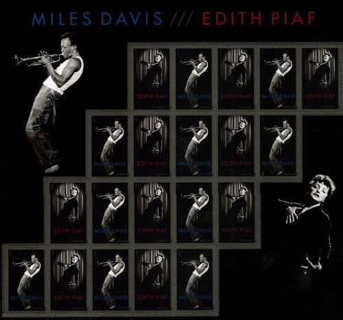 "USA, Scott Nr 4693a (2012) Nov 15, 2015, Miles Davis is voted ""Greatest Jazz Artist of All Time,"" by listeners of UK stations BBC Radio and Jazz FM."