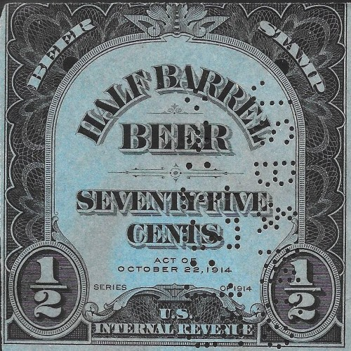 USA, Scott Nr REA109 (1914) Dec 5, 1933: With Utah's ratification, the 21st Amendment is passed, ending prohibition. Concurrently, FDR signs into law the Beer and Wine Revenue Act placing a federal tax on alcohol, creating a new area of collection for philatelists.