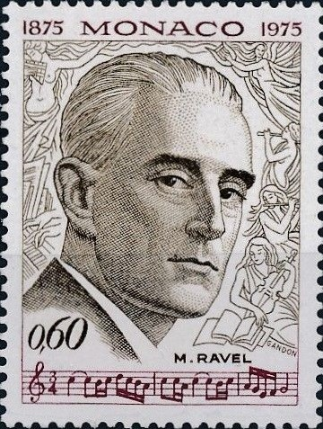 Monaco, Scott Nr 997 (1975) Dec 27, 1937: Maurice Ravel dies from complications following exploratory brain surgery a week earlier.
