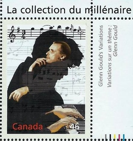 Canada, Scott Nr 1820b (2000) 2 Jan, 1955: American debut of 22-yr-old Canadian Glenn Gould in Washington D.C. @PhillipsMuseum playing works by Orlando Gibbons, Jan Pieterszoon Sweelinck, Beethoven, Berg, Webern, and - who's that guy? - oh, yeah, Bach.