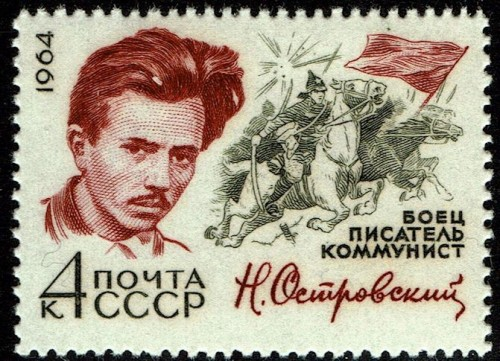"Nikolai Ostrovsky, a socialist realist writer. His best-known work is, ""How the Steel Was Tempered."""