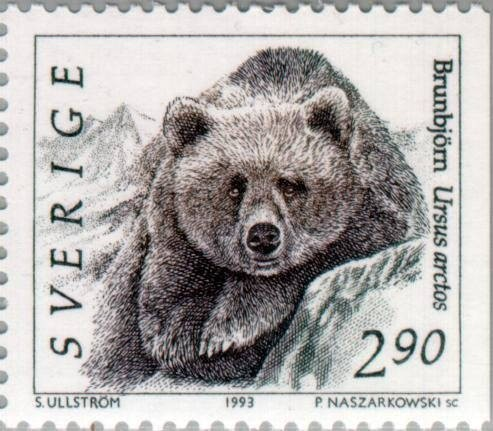 Sweden Scott #1923 Bear