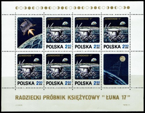 Honoring the Luna 17 unmanned moon mission.