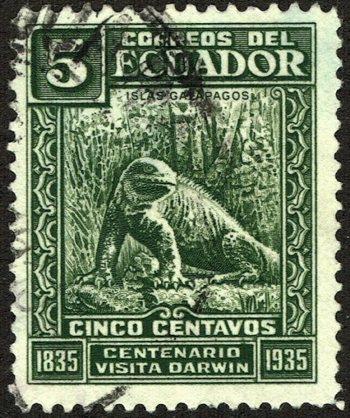 Centenary of the visit of Charles Darwin to the Galapagos Islands, Sept. 17, 1835.