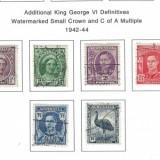 AustraliaKingGeorgeVIDefinatives1942-1944
