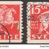 Sweden-Facit-248A--248APII-50p-marked