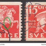 Sweden-Facit-248A--248APIII-50p-marked