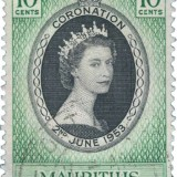 Queen-Elizabeth-1953-Coronation-Issue-Mauritius