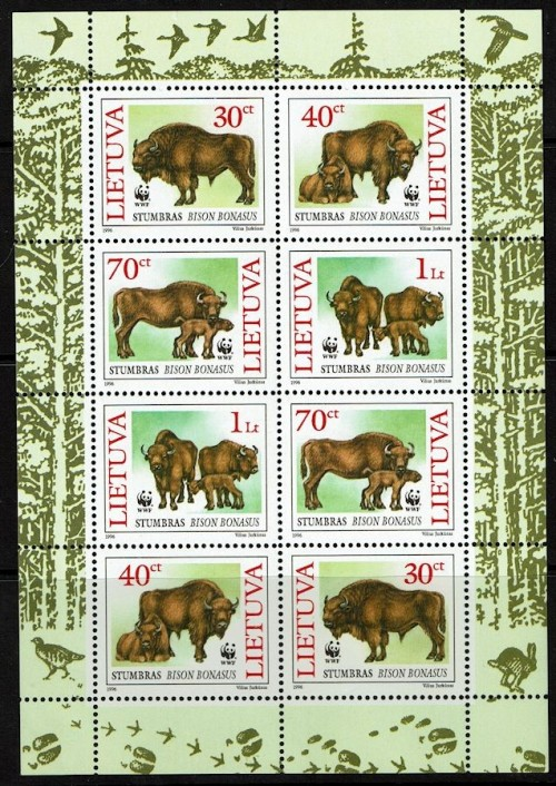 Lithuania-532a-WWF-Bison-1996.jpg