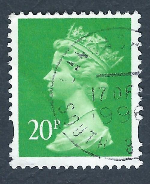 A 20p British Machin Stamp
