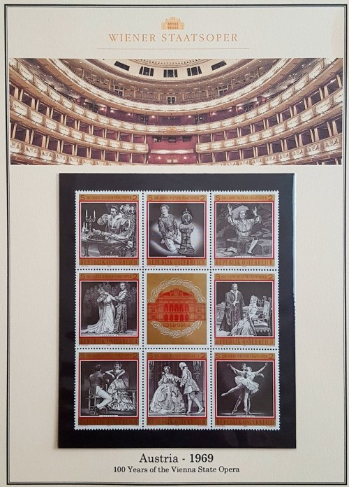 In 1969 Austria celebrated the 100th year of the Vienna State Opera.