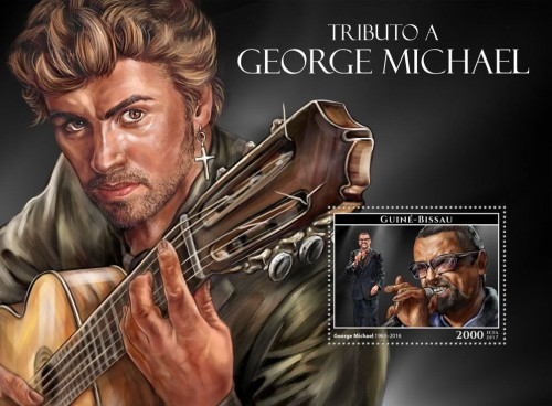 Guinea Bissau (2017) Nov 14, 1987: George Michael is at #1 on the UK album chart with his debut solo album 'Faith,' which goes on to win the Grammy for Album of the Year in 1989.