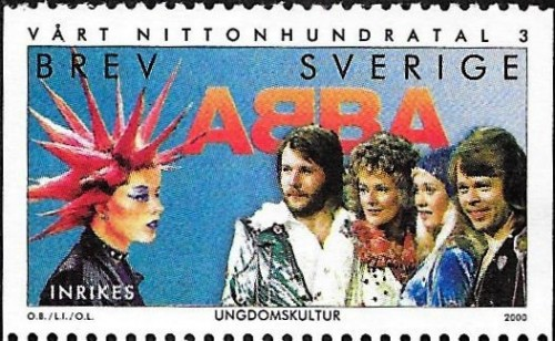Sweden, Scott Nr 2384 (2000) Nov 17, 1974: ABBA kick off their first European tour in Copenhagen, playing outside of Sweden for the first time.