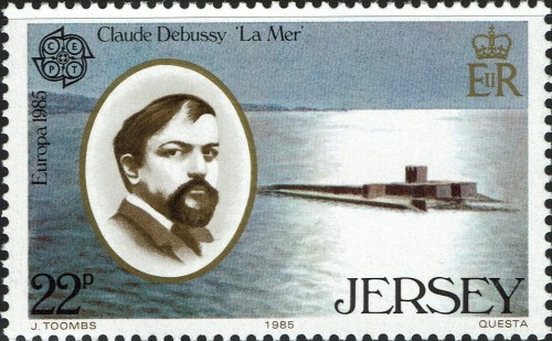 "Jersey, Scott Nr 355 (1985) Dec 9, 1900: The premiere of the first 2 of Claude Debussy's, ""Trois Nocturnes, with Camille Chevillard conducting the Lamoureux Orchestra."