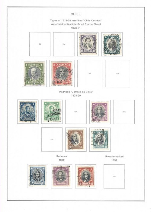 chile stamps page early 20th century pg 2