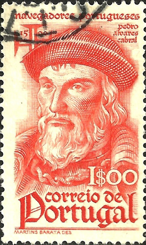 Portugal, Scott Nr 646 (1945) Jan 1, 1500: The Portuguese explorer Pedro Alvares Cabral reaches the coast of Brazil and claims the region for Portugal.