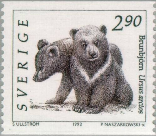 Sweden Scott #1928 Bear Cubs