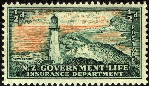 Tamp used by the NZ Government Life Insurance Department for franking of official mail.