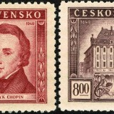 Czechoslovakia-Scott-Nr-389-90-1949