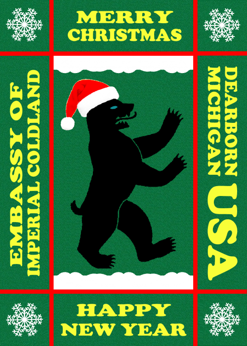 Embassy of Imperial Coldland Christmas Bear Postcard