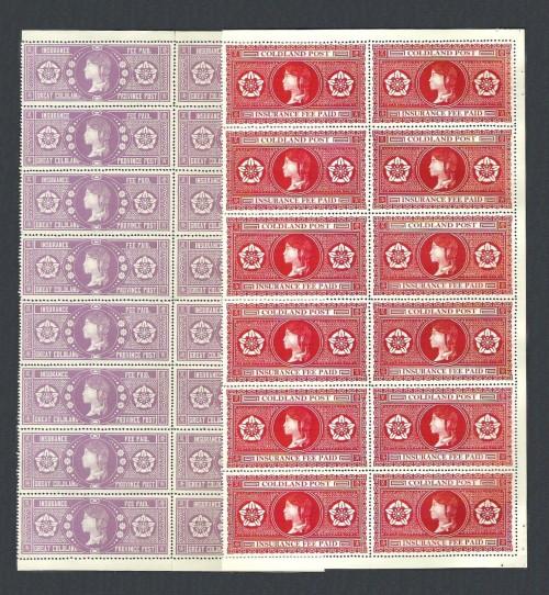 Coldland Postal Insurance Stamps