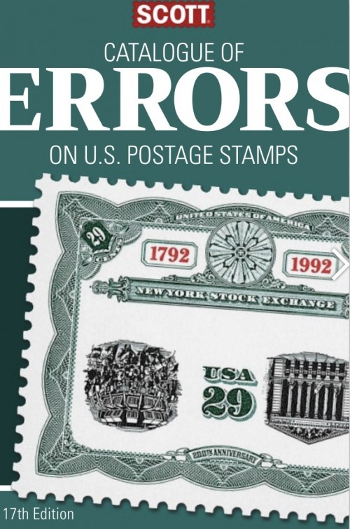 Scott Catalog of US Error Stamps