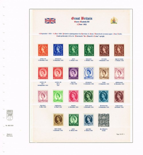 1955 - 1958, Elizabeth II, Wildings, St. Edward's Crown watermark upright (ex sheets), SG 540-556. Specialised S2, S14, S26(1) & (2), S37, S38, S52, S53, S68, S82, S100, S105, S106, S115, S120, S125, S130, S135, S137, S142, S151