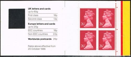 04-08-1987 DB18(1) 4 x 26p, code I booklet