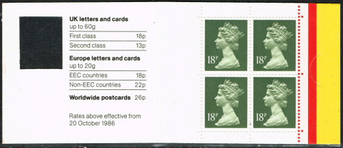 ??-02-1988 DB17(1)A 4 x 18p, code B booklet with revised clasp.