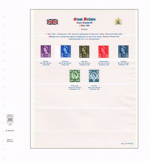 1967 – 1970, Great Britain, Scotland regional issues, SG XS7-XS8, XS11-XS15, XS21, XS27