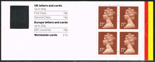 23-08-1988 DB18(4) 4 x 27p, code T booklet.