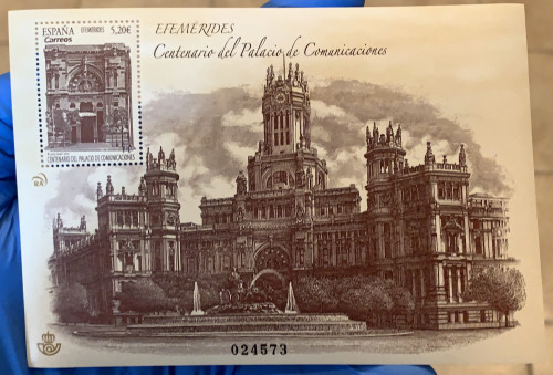Spain, Centenary of Palace of Communications (2020)