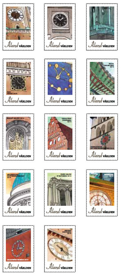 Åland Post Exhibition Stamps 2014