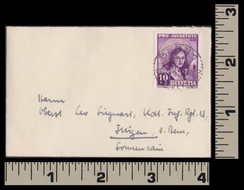 Tiny Switzerland semipostal cover, 1938-1231